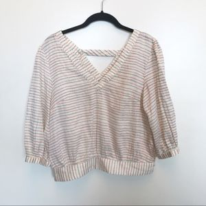 Anthropologie | Skipped Hearts Nautical Top
